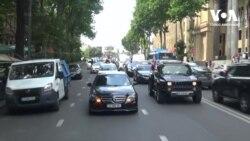 Грузинські автомобілісти підтримують антиурядові протести. Відео