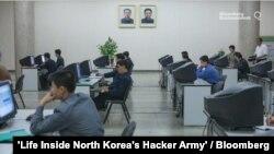 '블룸버그' 통신이 23일 미니 다큐멘터리를 통해 북한 해커 부대의 활동을 보도했다. 사진='Life Inside North Korea's Hacker Army' / Bloomberg.