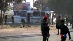 2014-10-01 美國之音視頻新聞: 塔利班炸毀阿富汗軍方巴士