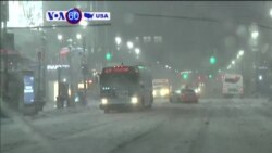 VOA60 America - Late-Season Blizzard Slams Northeast US