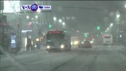 VOA60 America - Late-Season Blizzard Slams Northeast US