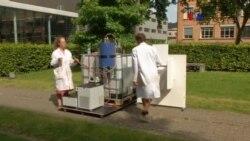 Convertidor solar de agua en orina
