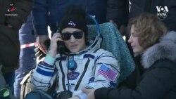 Кристина Кук вернулась из космоса