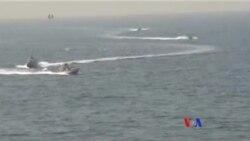 伊朗快艇挑釁美國軍艦 美軍鳴槍示警