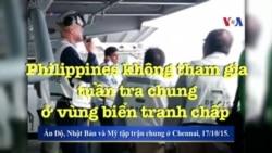 Philippines không tham gia tuần tra chung ở vùng biển tranh chấp