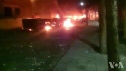 به آتش کشیده شدن اتوبوسهای بسیج در شاهین شهر اصفهان