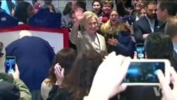 美国选民踊跃投票,川普和克林顿也在其中