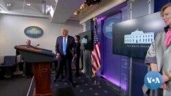 VOA英语视频: 白宫记者共冒感染病毒风险,持续出席简报会