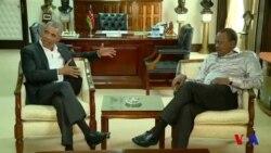 Barack Obama rencontre Kenyatta au Kenya (vidéo)