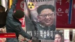 Dân Hàn Quốc biểu tình chống 'tô hồng' lãnh tụ Bắc Hàn