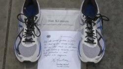 چیدن کفشها در میدان ریپابلیک پاریس در پی ممنوعیت راهپیمایی