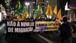 São Paulo: Grupo contrário à Lei de Migração faz novo protesto