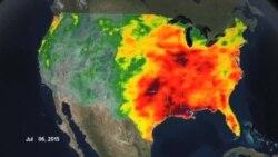 ترسالی و خشکسالی شدید در شرق و غرب آمریکا در پی گرمایش جهانی