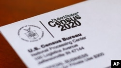 FILE - This photo shows an envelope containing a 2020 census letter mailed to a U.S. resident in Detroit, April 5, 2020.
