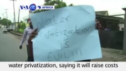 VOA60 Africa- Nigeria: Environmentalists in Lagos protest water privatization- August 11, 2015