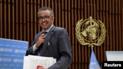 FILE - World Health Organization (WHO) Director-General Tedros Adhanom Ghebreyesus.