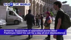 VOA60 World PM - Armenia: Supporters of opposition leader Nikol Pashinyan heed his call for a day of civil disobedience