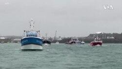 Britain France Warships Fishing 1st UPDATE -- USAGM