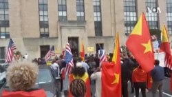 Protest Outside VOA Offices