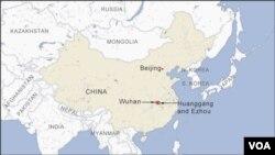 Wuhan, Huanggang and Ezhou