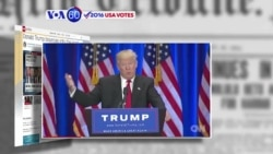 VOA60 Elections - CNN: Trump has a 4-point lead over Clinton