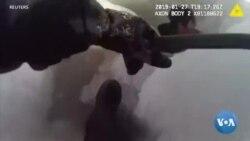 Des policiers de Chicago sauvent un homme dans un Frozen Lake