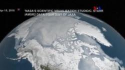 Lagos de derretimiento en glaciares de Antártida