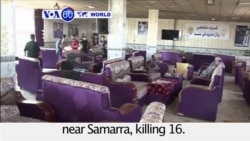 VOA60 World PM - At least 16 killed in Iraq attacks