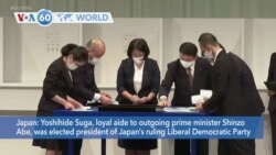 VOA60 Addunyaa - Yoshihide Suga was elected president of Japan's ruling Liberal Democratic Party