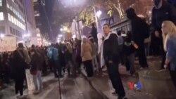 """波特蘭警方稱反川普抗議為""""騷亂"""""""