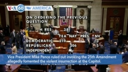 VOA60 Ameerikaa - Vice President Mike Pence ruled out invoking the 25th Amendment to attempt to remove President Donald Trump