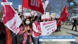 ABD Gemilerinin Boğazlar'dan Geçme Planı Protesto Edildi