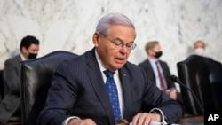 سناتور باب منندز، رئیس کمیته روابط خارجی سنا (۴ اوت ۲۰۲۱)
