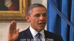 Obama es juramentado