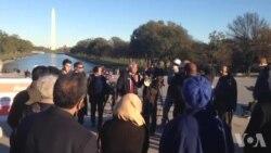 داعش کے خلاف واشنگٹن میں مظاہرہ