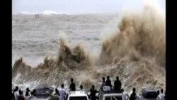 """颱風""""燦鴻""""在中國東部沿岸登陸"""