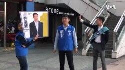 香港选民排长队在区议会选举中投票