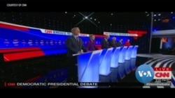 VOA英语视频: 民主党竞选人爱奥华州辩论 外交政策引冲突