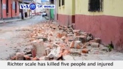 VOA60 World- 6.6-magnitude earthquake kills 5 in Guatemala