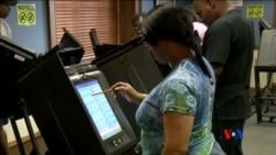 2016-11-01 美國之音視頻新聞: 戰場州選民提前投票關心實際議題