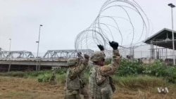 Troops at the US Border are Stringing Wire and Building Barracks