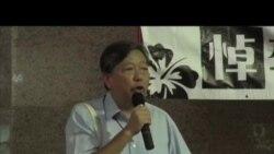 香港人在鬧市舉辦李旺陽被自殺追思會