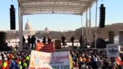數萬人在'羅訴韋德案'週年紀念日集會反對墮胎