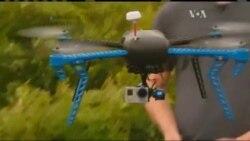 Квадрокоптер та зброя - небезпечне поєднання. Відео.