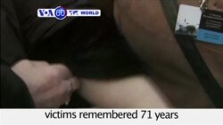 VOA60 World - Holocaust victims remembered 71 years after Auschwitz death camp liberated
