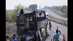 墨西哥巴士撞上拋錨貨車 36人死亡