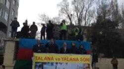 """Əli Kərimlinin Milli Şuranın """"Talana son!"""" mitinqində çıxışı"""