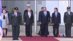 美國防長訪問以色列 強調兩國友好關係 (粵語)