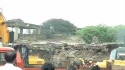 印度孟买公寓楼倒塌十人丧生