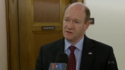 U.S. Senator Christopher Coons speaks about the threat of terrorism in Africa